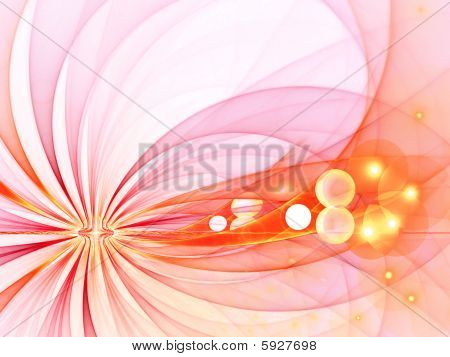 A fractal computer generated image, with radiating arcs / rays and sphere lights.  A great springtime & summertime image. poster
