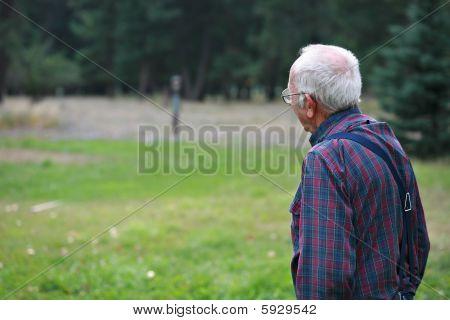 Elderly Man Looking Off