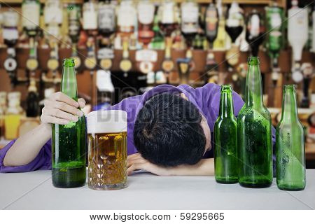 Drunk Man With Beer