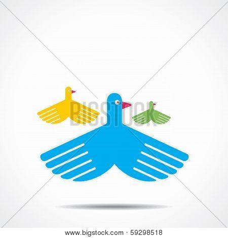 creative bird background