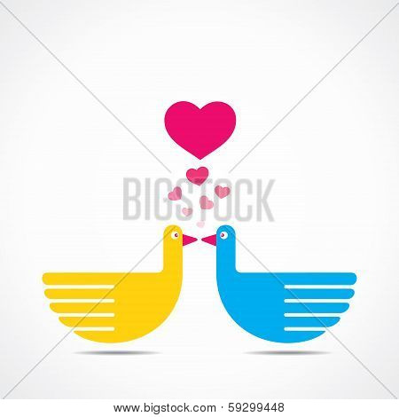 cute lover bird stock