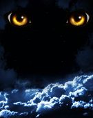 Dark series - horror in night poster