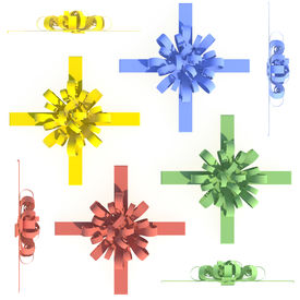 Colorful Bows And Ribbons Set