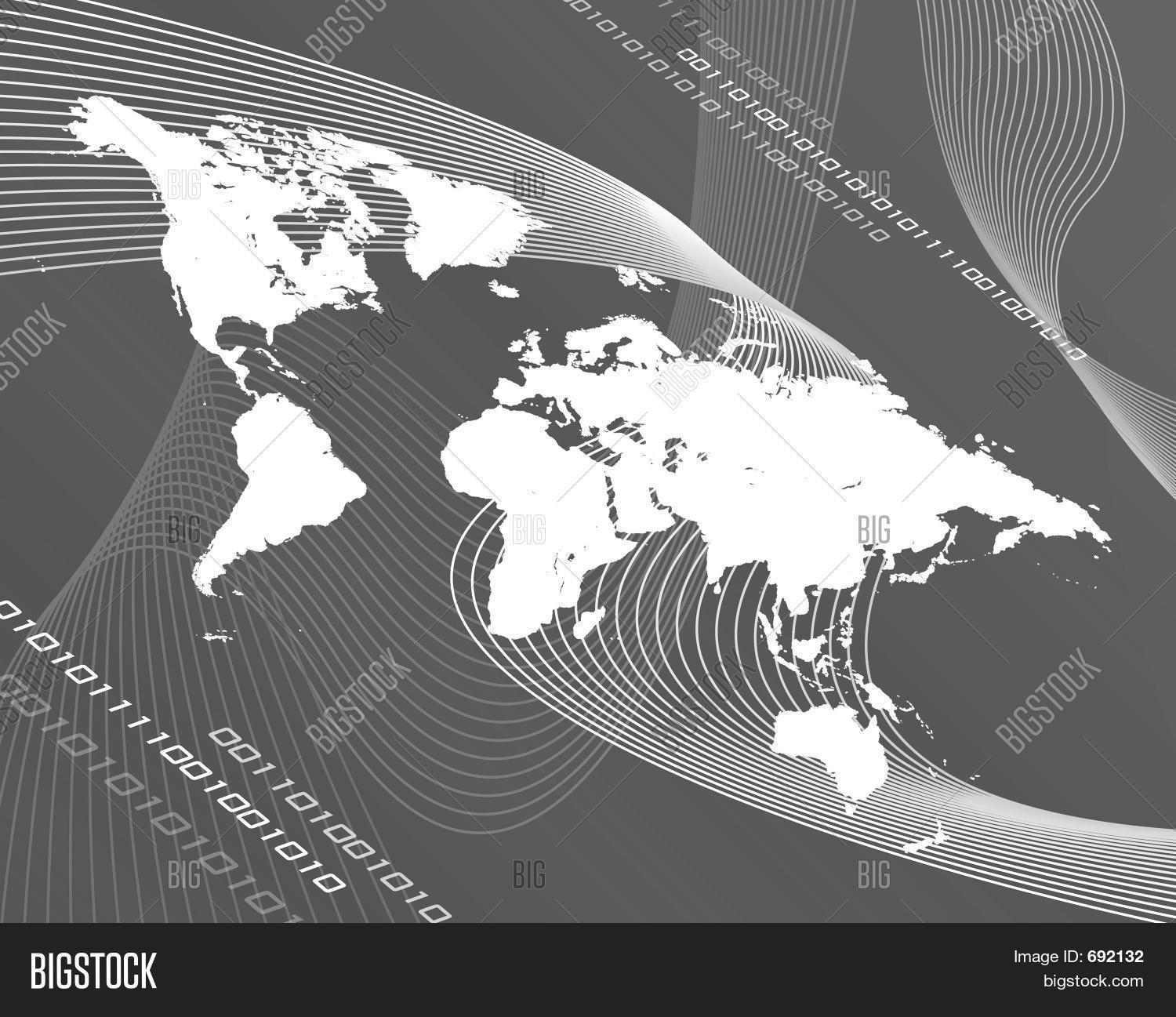 Grayscale world map image photo free trial bigstock grayscale world map gumiabroncs Gallery
