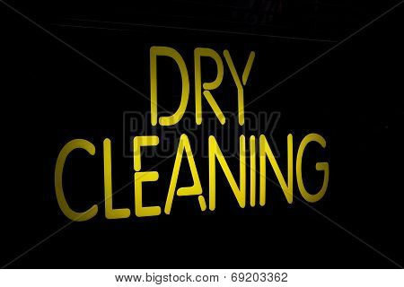 Neon Sign Dry Cleaning