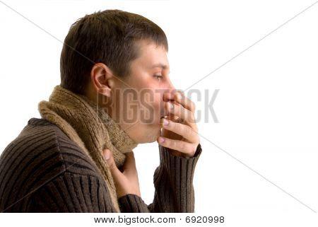 Coughing Sick Man