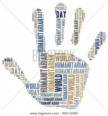 Word Cloud Illustration Related To Humanitarian Aid