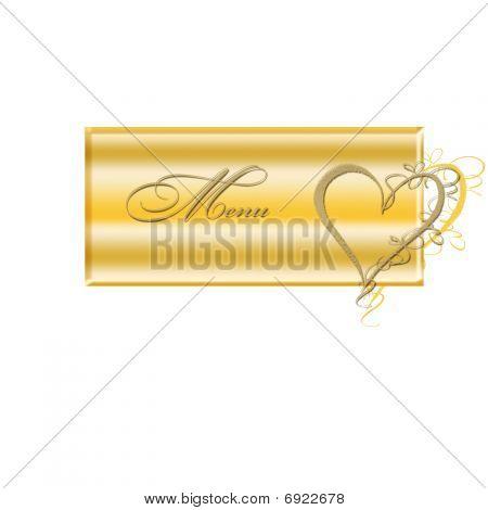 Menu Banner Golden With Heart