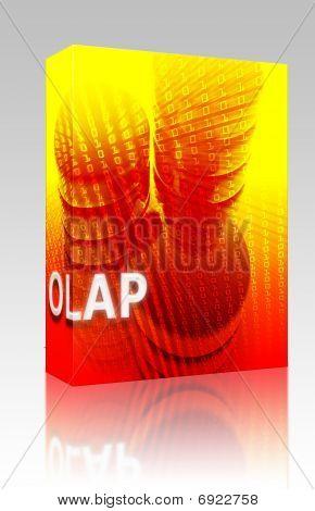 Olap Data Illustration Box Package
