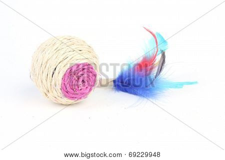 Cat Toy Isolated On White Background