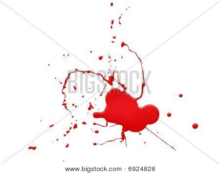 Blood Splat On White Background