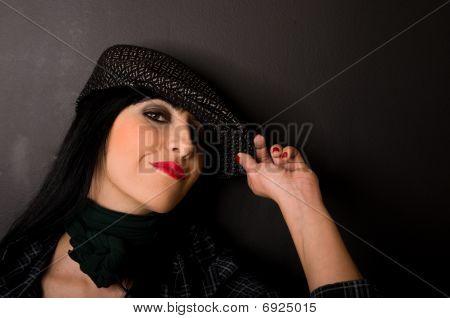 Portrait of a beautiful brunette
