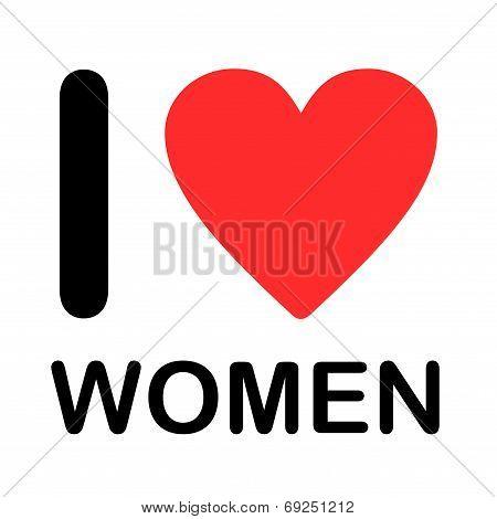 A Font Type Illustration - I Love Women poster