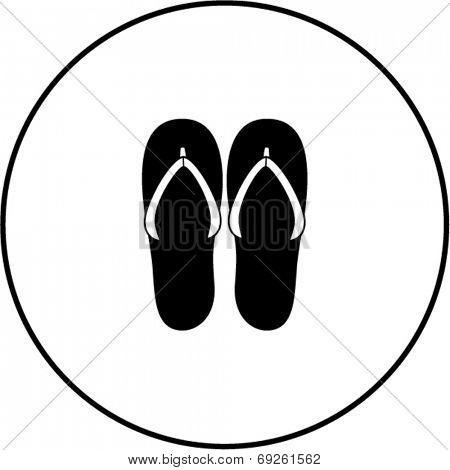 flip flops sandals symbol