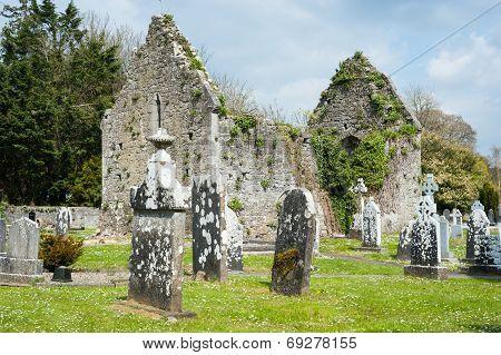 Celtic graveyard in Adare, Ireland