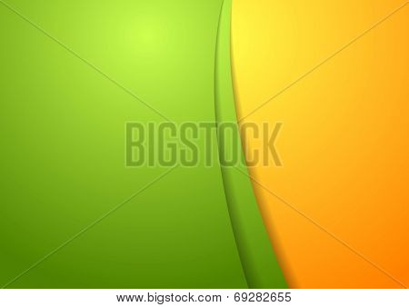 Wavy bright abstract design template. Vector background