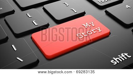 My Story on Red Keyboard Button.