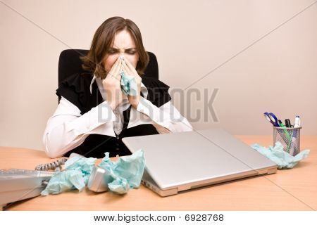 Young Businesswoman Crying