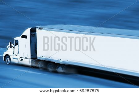 Speeding Semi Truck