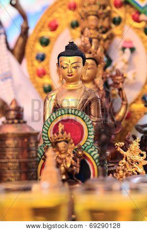 golden Buddha statuette