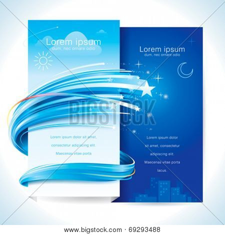 Day night theme twinkling star background. suitable for anniversary, new year or invitation card decoration. Vector.