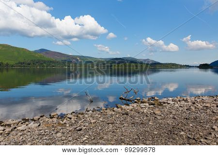 Derwent Water Lake District National Park Cumbria England uk near Keswick