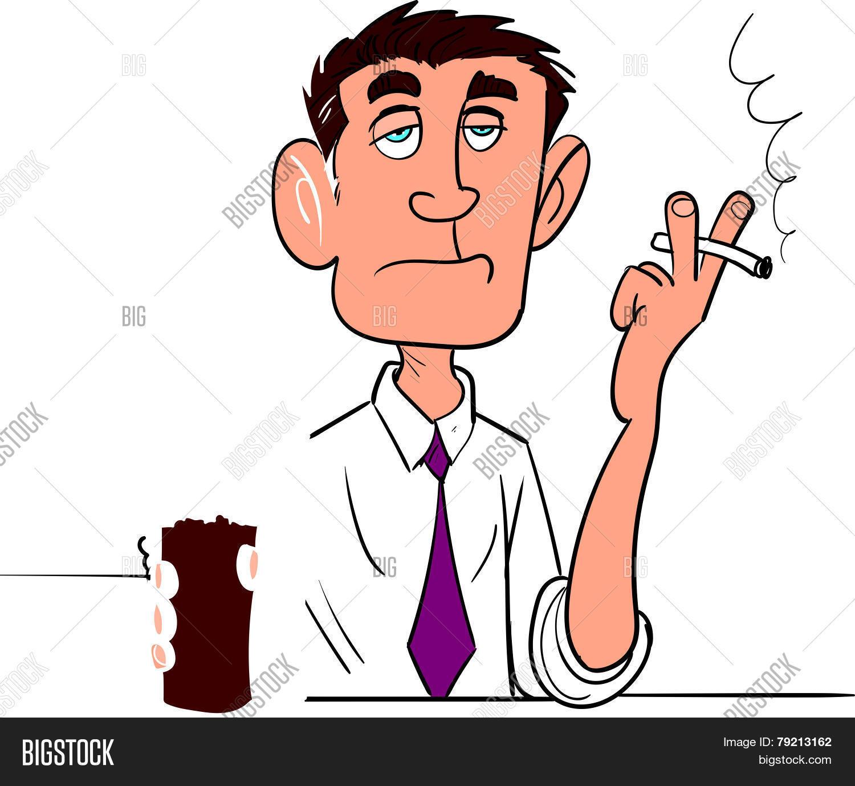 Cartoon Man Smoking Vector Photo Free Trial Bigstock