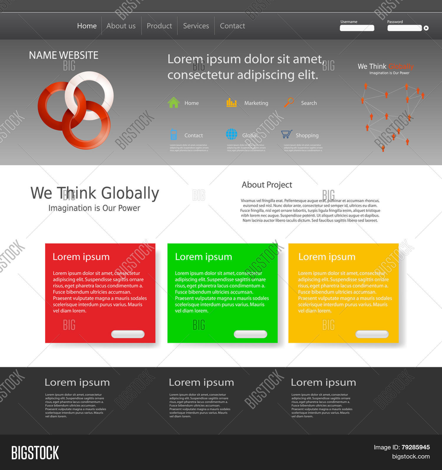 Template Website You Vector Photo Free Trial Bigstock
