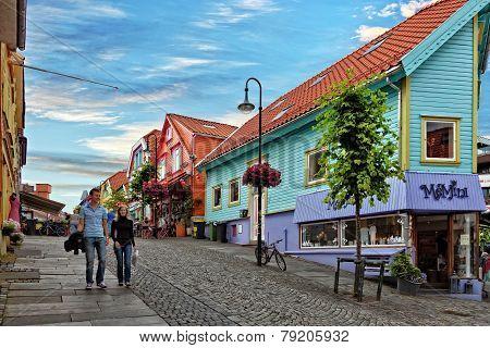 Shopping Street In Stavanger