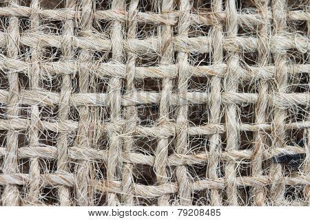 Natural jute sackcloth texture background