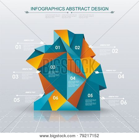 Business Infographics Polygonal Design Style.