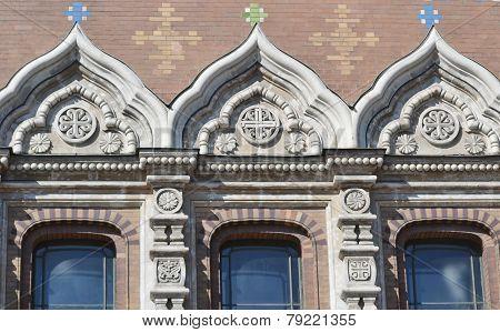Windows Of Orthodox Cathedral Spas Na Krovi