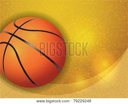 Basketball On Background Illustration