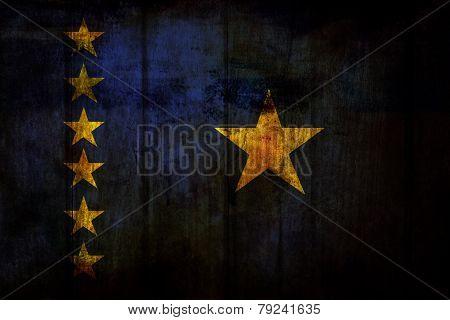 Grunge Democratic Republic of Congo Falg