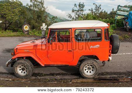 Tourists  car