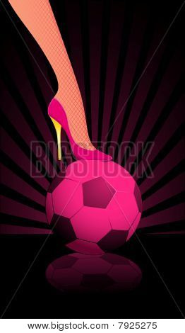 female High heel soccer