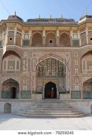 Facade Of The Ganesh Pol Building