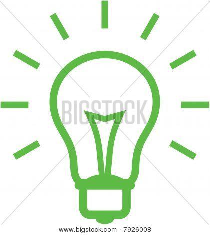 Vector light bulb illustration