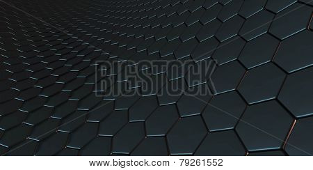 A blue dragon scale background