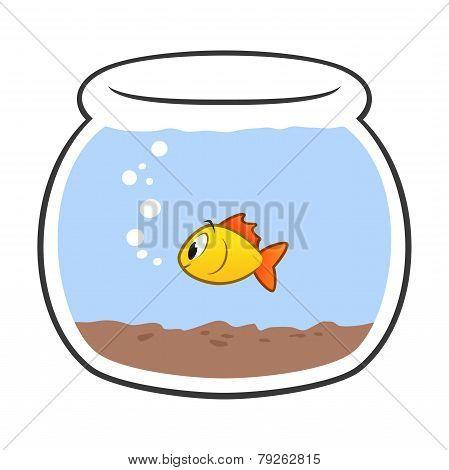 Cartoon Fish Bowl