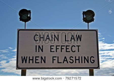 Chain Law In Effect