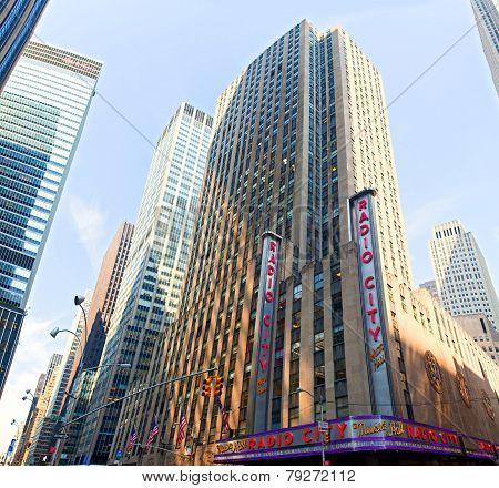 NEW YORK CITY - MAY 29: Radio City Music Hall at Rockefeller Center