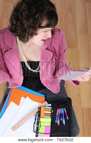 Sitting Business Woman