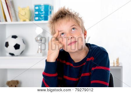 Boy Is Reflecting