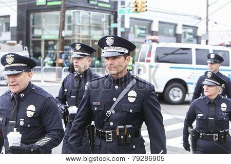 LAPD contingent arrives