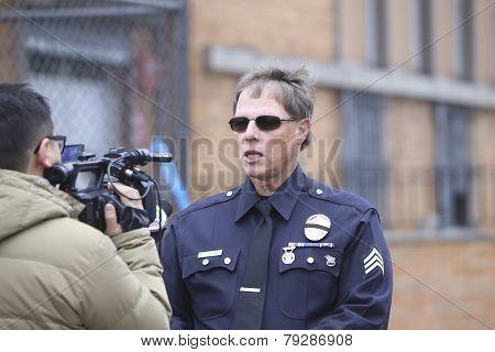 LAPD member speaks to press