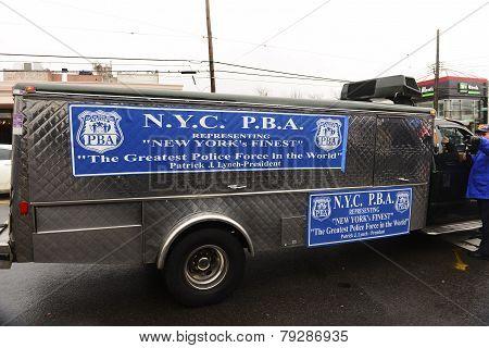 Patrolman's Benevolent Association truck