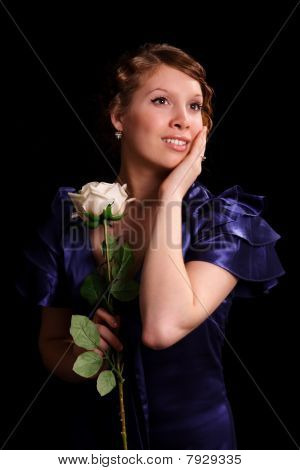 Nice Girl With A Rose