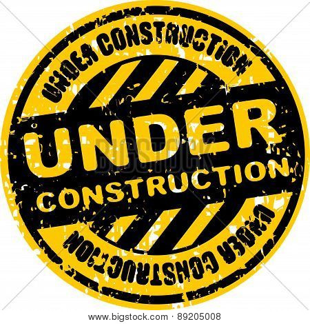 Rubber Stamp Or Sign Under Construction