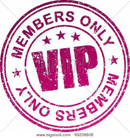 Rubber Stamp Vip. Members Only.
